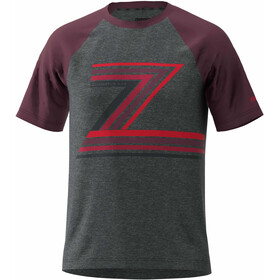 Zimtstern The-Z T-shirt Herrer, gun metal melange/ windsor wine